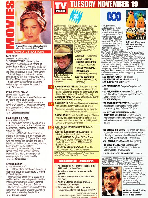 Classic tv listings general television topics media spy.